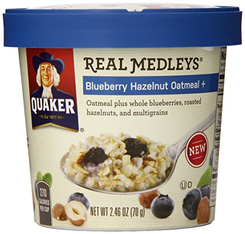 Quaker Real Medleys Oatmeal, Blueberry Hazelnut, 2.46 ...